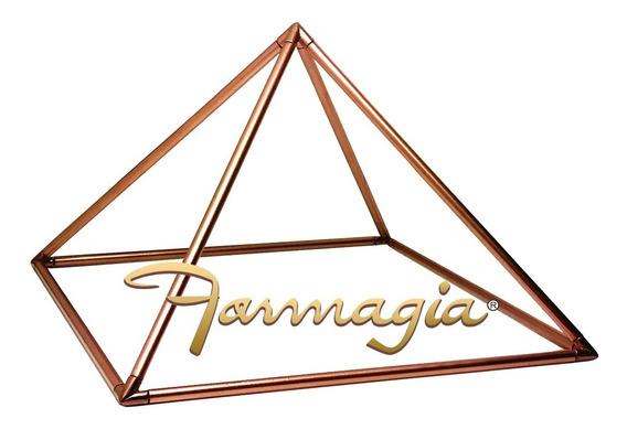Pirâmide De Aresta De Cobre Base 15cm Medida Precisa Fábrica