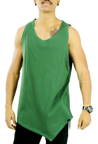 Regata Longline Oversized Masculina Bico V Camisa Meio Swag