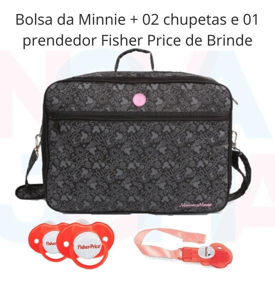 Bolsa Maternidade Luxo Minnie Mouse Disney + Brindes