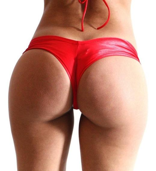 Micro Shorts Vermelho Lycra 2656 - Ropahrara