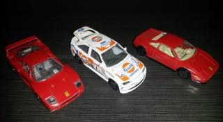 Pack Carritos Burago Escala 1/43 - Ferrari - Ford Escort Rs