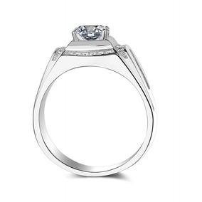 0dd6a339fab2 18 Quilates Blanco Oro Uno Quilate Simulación Diamante Anil