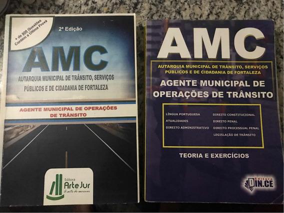 Livro 2 Apostilas Concurso Publico Amc - Agente De Transito