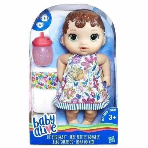 Boneca Morena Baby Alive Hora Do Xixi - Hasbro E0499