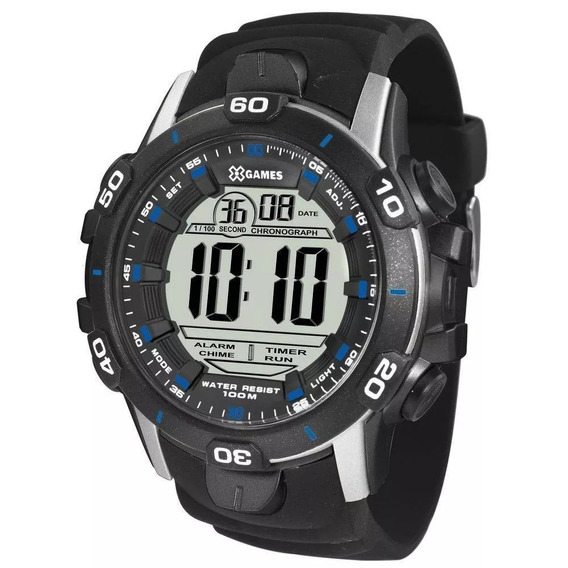 Relógio Masculino X-games Digital Xmppd457 Bxpx Preto/prata
