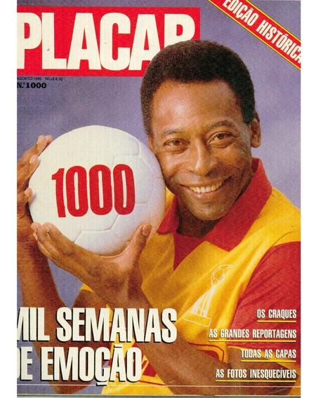 Revista Placar Nº 1000 Ago/1989 - As Mil Capas Escudos