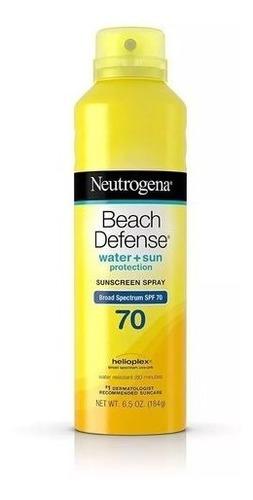 Protetor Solar Neutrogena Beach Defense 70 Spray (184g).