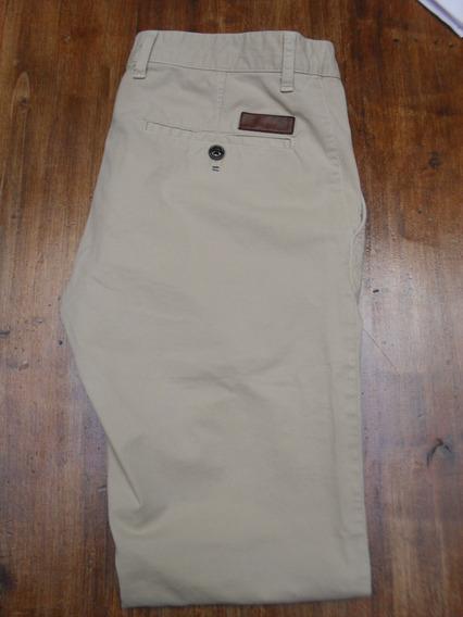 Pantalon Zara Man Chupin Importado Color Crema