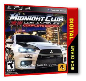 Midnight Club Los Angeles ,playstation 3. Codigo Psn !!!