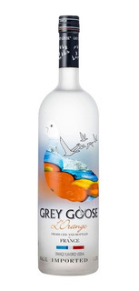 Vodka Grey Goose Sabor Naranja Botella Litro Esmerilada