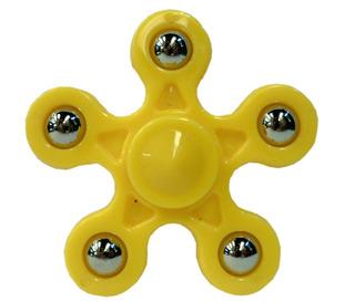 Hand Spinner Con 5 Puntas Cuerpo Amarillo , R 8032-10