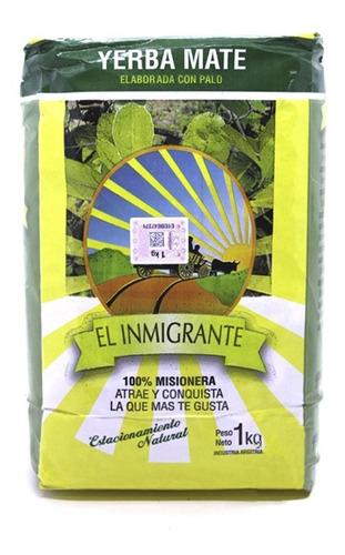 Imagen 1 de 7 de Yerba Mate El Inmigrante 1 Kg. Pack X 10