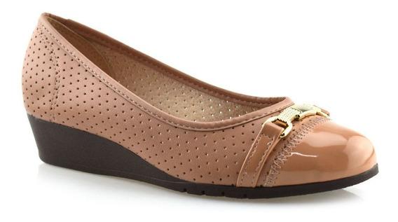 Sapato Anabela Feminino Salto Baixo Conforto Moleca 5156752