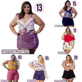 Conjunto Plus Size Feminino ( Short + Blusa ) Leminsk Deluxe