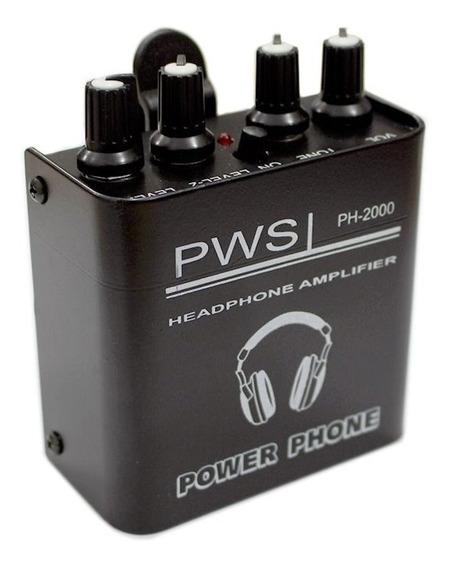 Amplificador Fone Head Phone Power Play 2 Canais Pws Ph2000