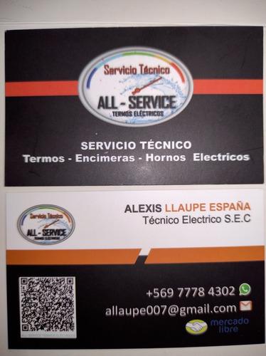 All-service Mantención Termos Eléctricos, Técnico Sec