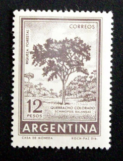 Argentina - Sello Gj 1144 Quebracho Offset Nuevo L1862