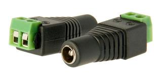 Conector Dc Hembra Apto Fuentes De Alimentación 5.5 X 2.1mm.