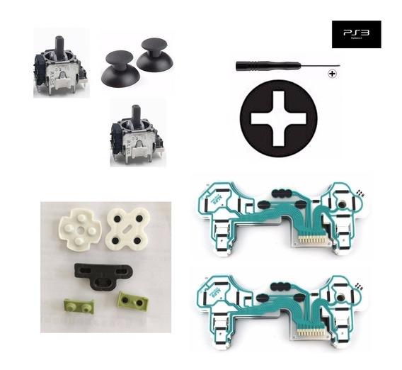 Película Condutiva Controle Ps3 Alps Botão Analógico 3d 3 Pinos Kit Playstation 3