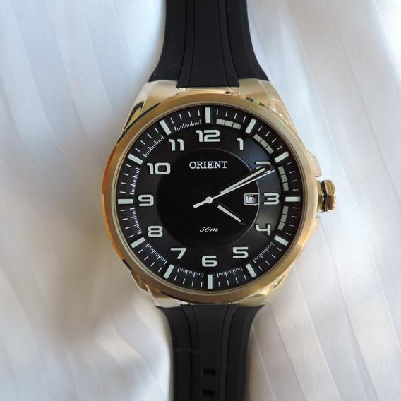 Relógio Orient Mgsp1003 Masculino Caixa Dourada Sport Lindo