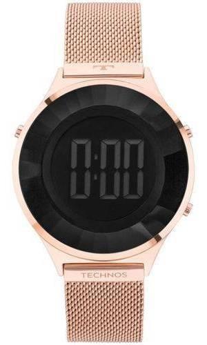 Relógio Technos Crystal Feminino Bj3851af 4p - Rose C/luz