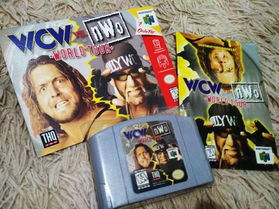 Wcw Vs. Nwo World Tour Nintendo 64 Com Caixa E Manual