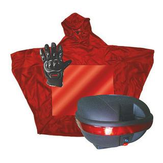 Caja Para Moto 31 Lt Con Guantes E Impermeable Mkl
