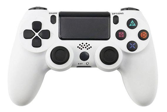 Gamepad Joystick Sem Fio Bluetooth Para Ps4 Branco