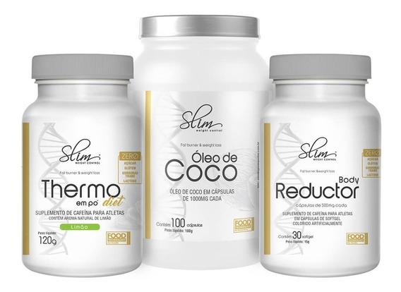 Kit Emagrecedores Oleo De Coco + Body Reductor + Termogenico