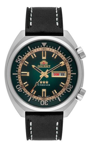 Relógio Orient Automatico Kingdiver Masculino F49sc001 Verde