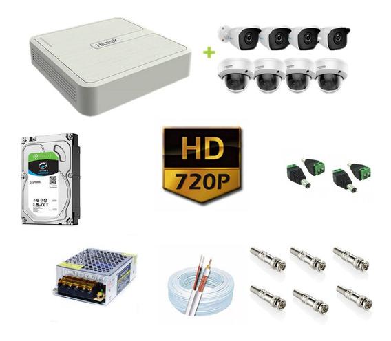 Kit Cftv 8 Câmeras Hd 720p 1mp 20m Dvr Hikvision 1tb