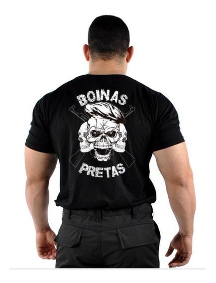 Camiseta Boinas Pretas Armas Estampada Nova Mundo Do Militar