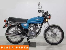 Honda - Cg 125 - 1982 Azul - Baixo Km - Placa Preta.