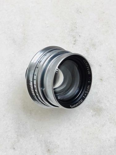 Imagem 1 de 10 de Lente Leica Summitar 50mm F/2 + Adaptador Para Mount M