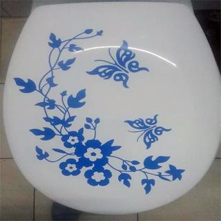 Adesivo De Vaso Sanitário Privada Flores Ramagens Flor Galho