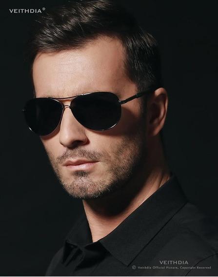 Óculos De Sol Masculino Fashion Lentes Polarizadas Original