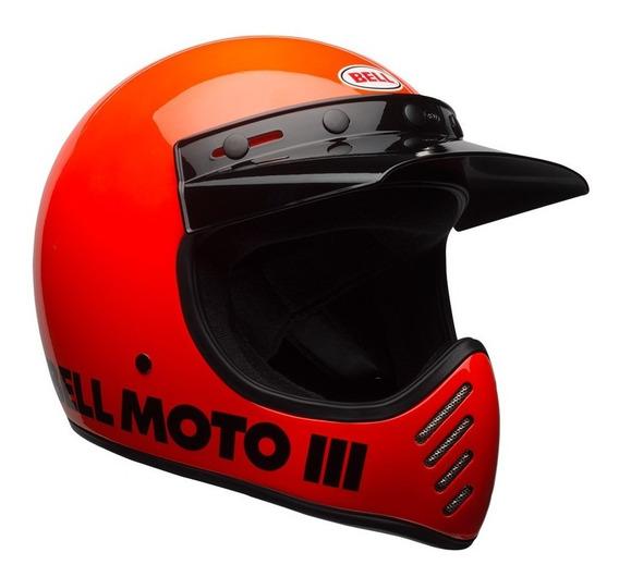 Capacete Bell Moto-3 Flo Orange Classic