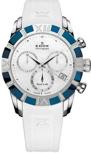 Reloj Edox Suizo, De Dama, Royal Lady, Crono, 40% De Desc
