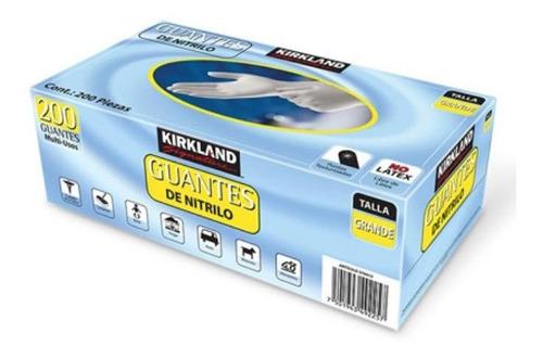 Imagen 1 de 3 de Guantes De Nitrilo Grande 1 Caja Con 200 Piezas Kirkland