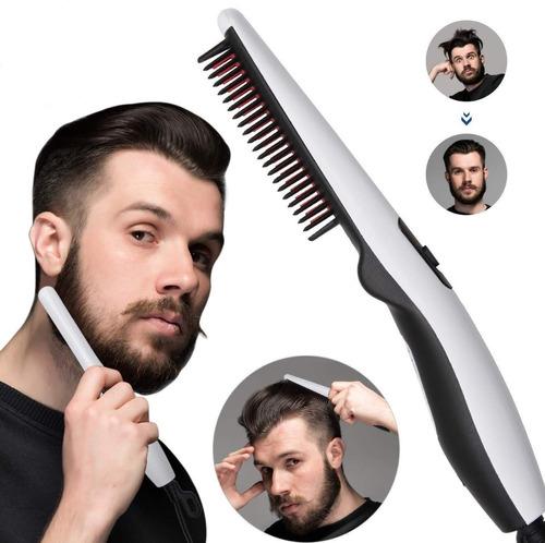 Plancha Cepillo Alisador De Barba Para Hombres