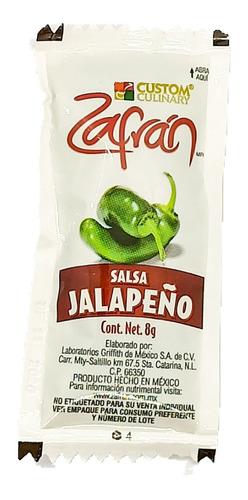 Salsa Jalapeño Zafran Caja 1008 Sobres 8g C/u