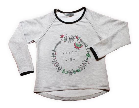 Buzo Nena Dream Big Gris