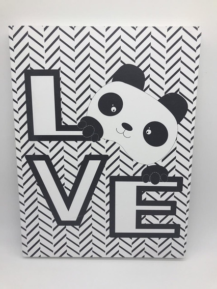 Quadro Moderninho Panda Love - Divino Talento Ref 7220