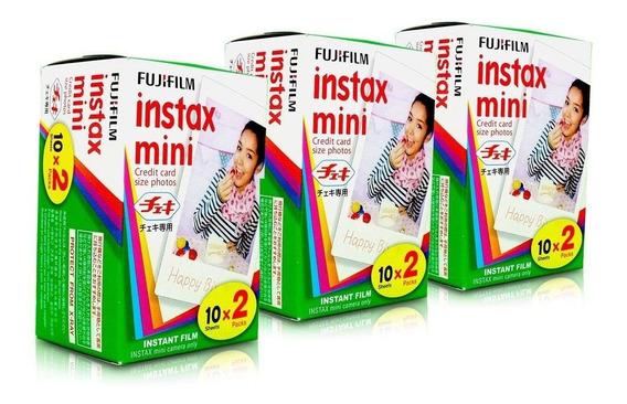 Fujifilm Instax Mini - Filme Com 60 Fotos - Pack Com 3 X 20