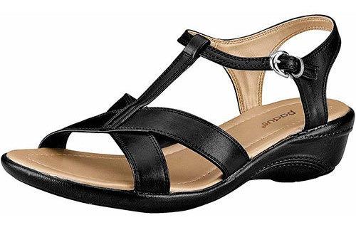 Padus Zapato Comodo Sint Mujer Negro Correa Tacon D34212 Udt