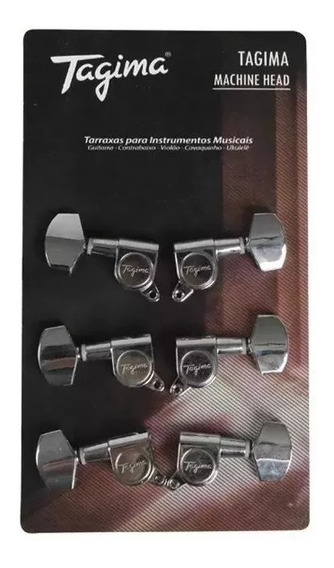 Tarraxa Tagima Para Guitarra 6 Linha Tmh 807 Envio Imediato