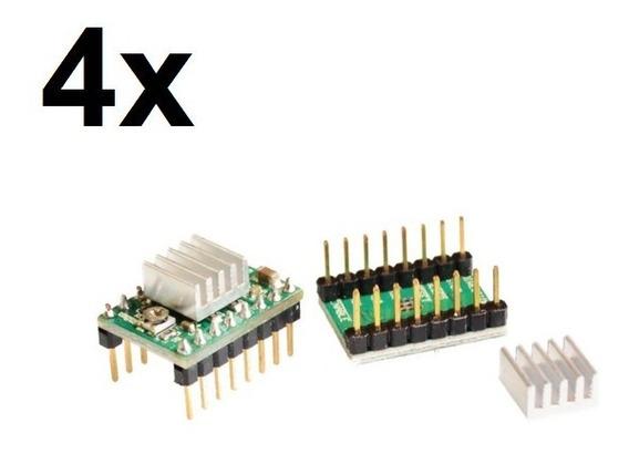 4x Driver Controlador Motor De Passo A4988 Arduino, Pololu