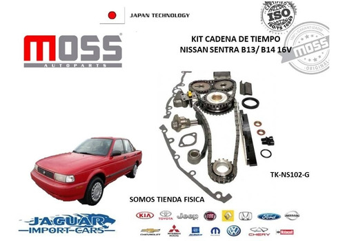 Kit De Cadena De Tiempo Nissan Sentra B13-b14 (tk-ns102-g)