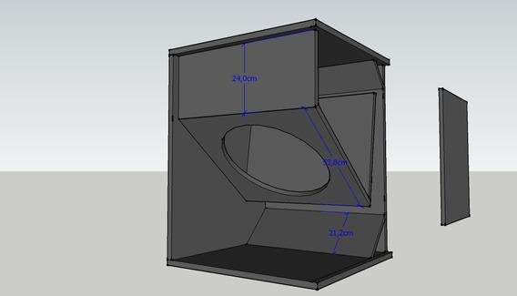 Projeto Caixa Acústica Sub Grave T18 Original Ev