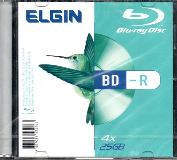 Bd-r Blu-ray Disc Elgin 25gb 4x Com Box Slim Lacrado